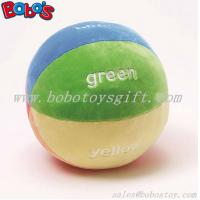 5.9Soft Colorful Plush Baby Ball Toy Baby Educational Rattle Toy Manufactures
