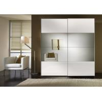 Durable High Gloss Bedroom Furniture With MDF Mirror Sliding Door Wardrobe Manufactures