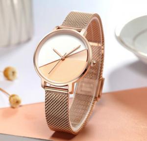 fashion alloy analog custom logo luxury rose gold for wrist women oem watch manufacturers rose gold watch women Manufactures