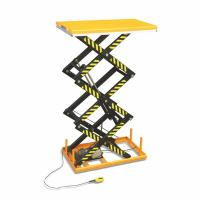 1.5 Ton Electric Scissor Lift Anti Slip Steel Plate Platform With Safety Interlock Manufactures