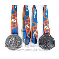 Buy cheap Metal sports medal with ribbon lace, personalized metal ribbon medals and from wholesalers