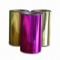 China Hot Stamping Foils for Paper, with 12 Micron Thickness, Various Colors and Sizes are Available on sale