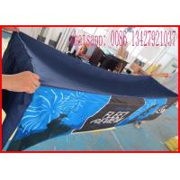 Promotional 8ft 240g Printed Spandex Tablecloths , Stretch Tablecloths Customized Made Logo Manufactures