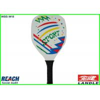 China Big Wood Beach Ball Racket / Paddle Tennis Rackets 34*20.5*0.32cm on sale
