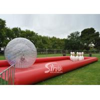 New design giant inflatable human bowling ball game with big zorb ball and race track Manufactures