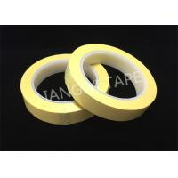 Light Yellow Polyester Mylar Tape With Flame Retardant 0.055mm Thickness Manufactures