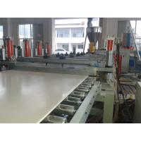 Solid WPC PVC Foam Board Extrusion Line Flame Retardant Stable Output High Precision Manufactures