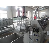 PP / PE Water Ring Plastic Granules Machine , Flakes Washing Recycled Granule Extruder Manufactures
