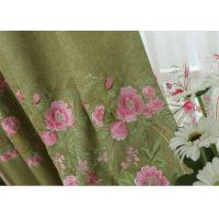 Modern Blue / Green Embroidered Fabrics Garment Cloth Material Manufactures