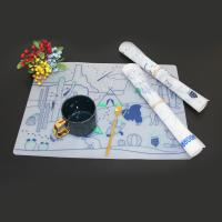 China Food grade magic drawing mat drawing mat doodle silicone kids clear placemat for sale