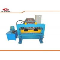 Blue Color Steel Trapezoidal Sheet Roll Forming Machine Export to Indonesia Manufactures