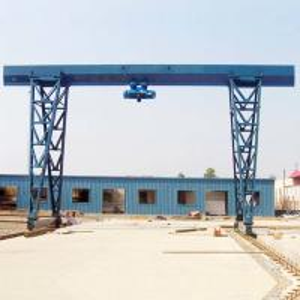 China 20T Electric Single Girder Gantry Crane Box Type Wireless Remote Control on sale