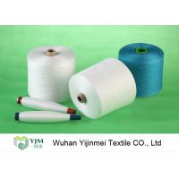 China Dyed Colored Ring Spun 100 Percent Polyester Yarn High Strength For Sewing Machine on sale