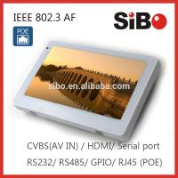 China 7 Wall Flush Mounted Android Touch Panel With Ethernet POE on sale
