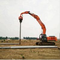 China Vibratory Hammer Screw Pile Drilling Machine Suitable 20-24T Excavator V-250D on sale
