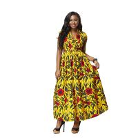 New Fashion Long African Print Dresseses , Ankara African Style Attire Dresses Manufactures