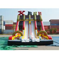 Ice Age Theme Inflatable Slide Rental Double Slide With Palm Tree / Inflatable Ice Age Slide Manufactures