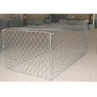 Zinc Coated Galfan Pvc Coated Gabion Box / Basket Gabion Mesh 100*120mm Manufactures