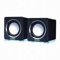 2.0CH Computer Speakers, Attractive Colors and 3.5mm Stereo Plug, Customized Logo  Manufactures