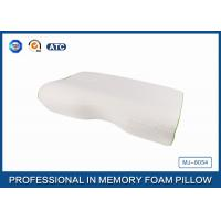 Orthopedic Curved Memory Foam Pillow With Bamboo Fiber Cover , Washable Foam Pillow Manufactures