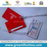 Advertising Top Quality Red Logo Printed Custom Plastic Luggage Tag Manufactures
