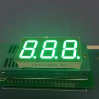 "Pure Green Seven Segment LED Display 0.56 "" 3 Digit For Instrument Panel Manufactures"