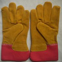China AB grade cow split leather working gloves for riggers wholesale