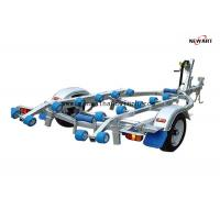 4.3m X 1.5m Rubber Roller Small Boat Trailer , Hydraulic Galvanised Boat Trailer Manufactures