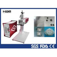 30w 50w 100w Color Fiber Laser Marking Machine On Jewelry / Ring Watch Enlosed Manufactures