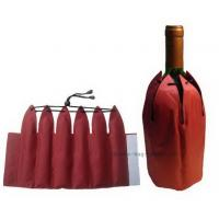 Non-toxic insulated promotional red portable wine cooler bags of nylon / taffeta Manufactures