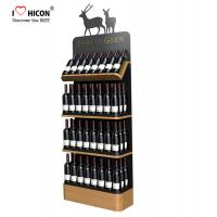 China Freestanding Custom Wooden Wine Display Rack For Liquor Store Advertising on sale