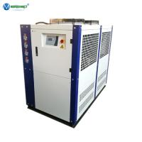 China Saudi Arabia Egypt Kuwait Ambient Temperature Design 12HP 15HP Air Cooled Water Chiller For Metal Scrap Shredder on sale