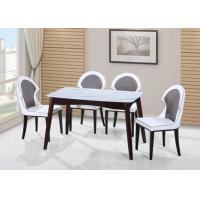 China Faux Marble Top Dinette Sets Restaurant Bistro Dining Table 4 Chairs Sets Manufacturer on sale