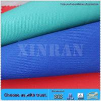 EN11611 cotton material washable woven twill flame retardant yarn dyed fabric