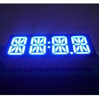 """Low Power Ultra Blue 0.47"""" 4 Digit Led 14 Segment Display Common Anode  For STB Manufactures"""