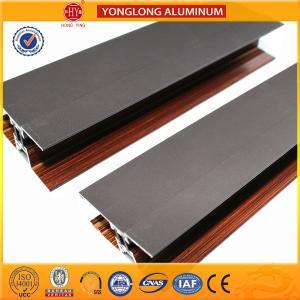 Wooden Finish Aluminum Extrusion Profiles For Sliding Window Decoration Manufactures