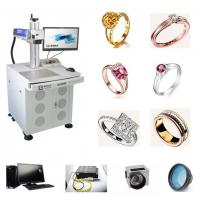 Sterling Silver Fiber Laser Engraving Machine 18K 24K Jewelry Gold For Metal Manufactures