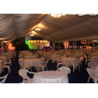 Water Proof White PVC Outdoor Party Tents For 500 People ISO 9001 Approved Manufactures