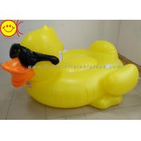 China GAME Derby Duck Inflatable Swimming Pool Float with Cup Holders and Handles For Kids & Adults wholesale