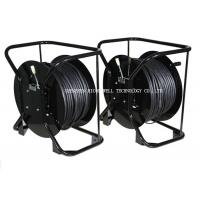 China Black Color Hand Fiber Optic Reel , Fiber Cable Reel 500 M To 1000m Length on sale