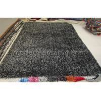 OEM Carbonized Black Polyester Shaggy Pile Rug, Soft Pile Modern Carpet Rugs Manufactures