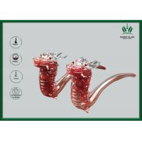 Red Leading  Glass Smoking Water Pipe Bubbler 9 Mm Glass Thickness For Male Manufactures