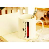Quality certifictionc change colors mug ceramic thermometer magic cup for sale