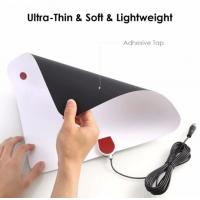 Ultra thin HDTV antenna on the wall widow range 50 miles  ,dvb-t2 hdtv indoor antenna,ATSC antenna,DTMB antenna Manufactures