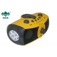 FM Radio Multifunctional Player Crank Powered Flashlight For Earthquake Manufactures
