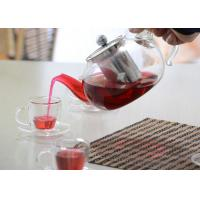 Elegant Hand Made Glass Tea Pot Set With Stainless Steel Infuser And 5pcs Glass Tea Cups