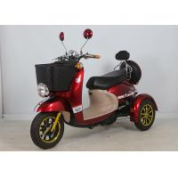 Aluminium Alloy Electric Mobility Scooter Three Wheels 500W For Women 175*700*110cm Manufactures
