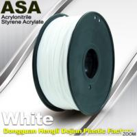 White ASA Filament / Anti Ultraviolet 1.75mm Filament For 3D Printer Manufactures