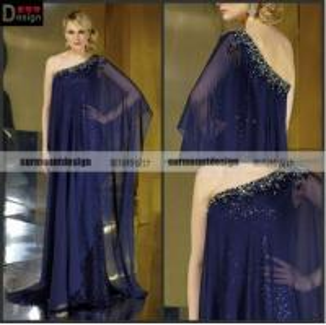 China CH1998 Surmount Beautiful One Shoulder Flowy Chiffon Evening Dresses For Pregnant Women on sale