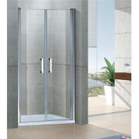 Sand Silver Inline Pivot Shower Doors 6 MM Tempered Glass With Aluminum Frame Manufactures